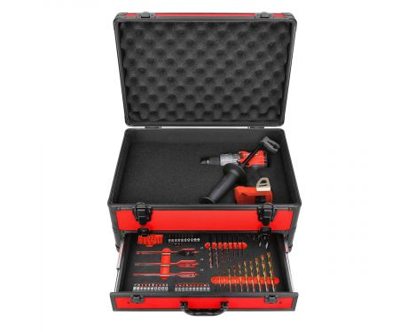 Milwaukee M18FPD2 18V M18 Li-ion FUEL Percussion Drill With 70 Piece Accessory Set in Case