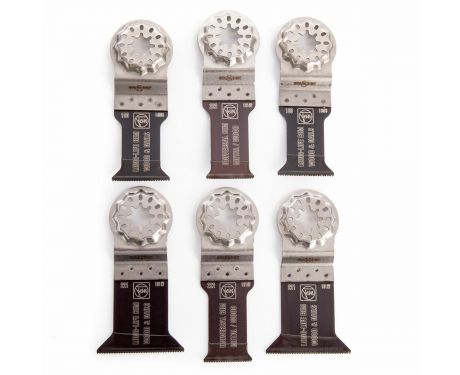 Fein 35222952300 Best of E-Cut 6 Piece Starlock Multi Cutter Blade Set